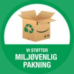 miljø venlig pakning badge